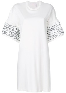 See By Chloé frilled sleeve T-shirt dress - White