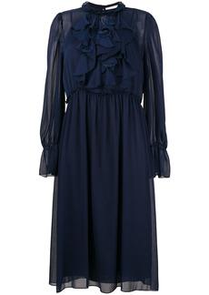 See By Chloé frilly midi dress - Blue