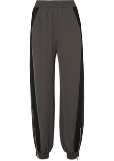 See by Chloé Gabardine-paneled twill pants