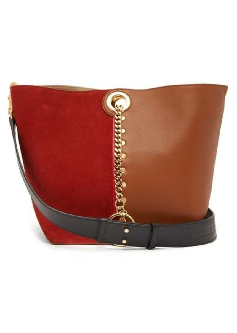 See By Chloé Gaia colour-block suede and leather tote bag