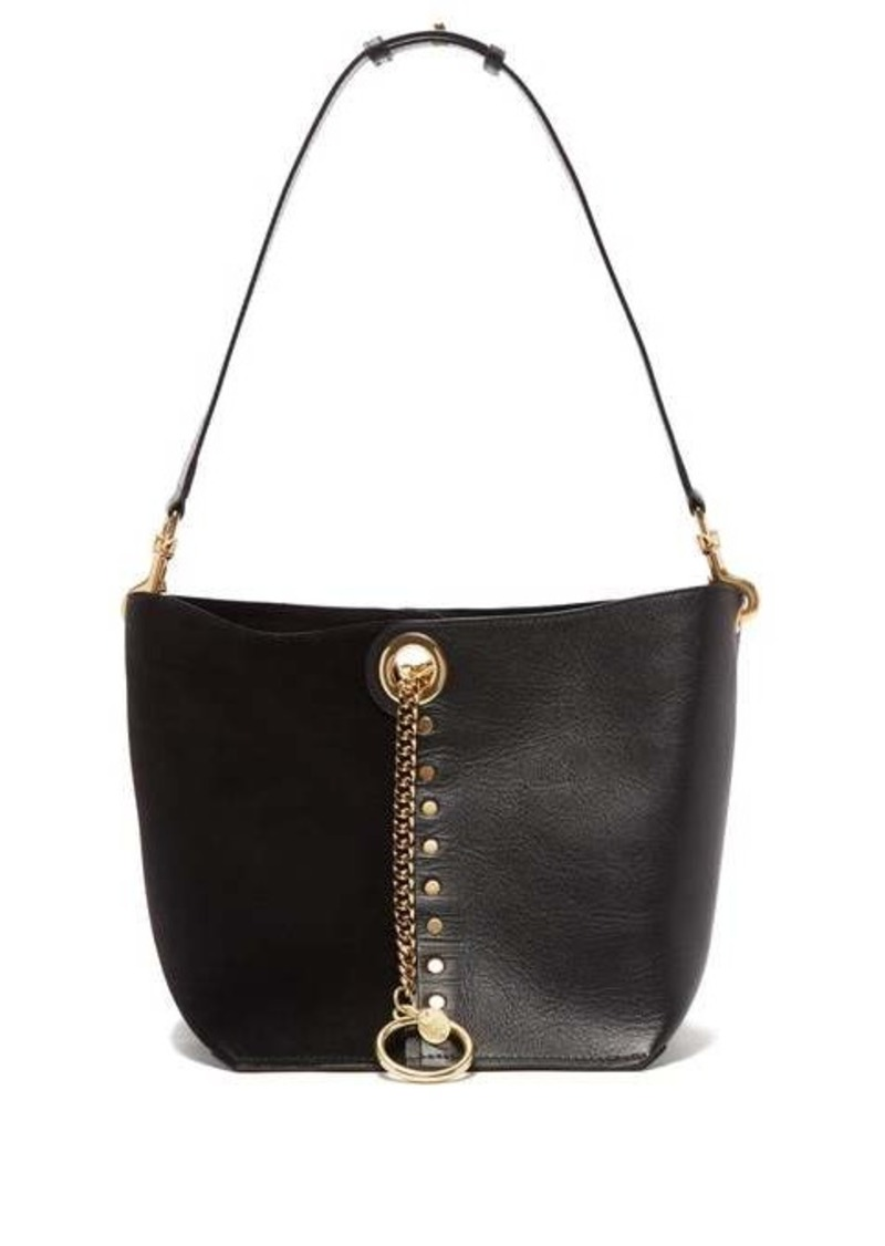 See By Chloé Gaia suede and grained-leather shoulder bag