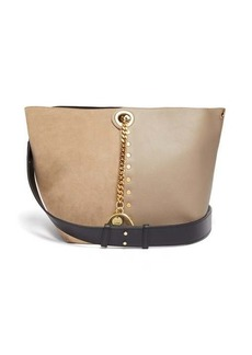 See By Chloé Gaia suede and leather tote bag