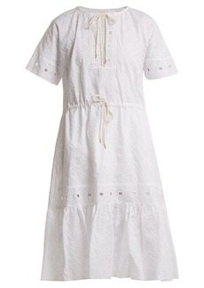 See By Chloé Geometric-embroidery cotton dress