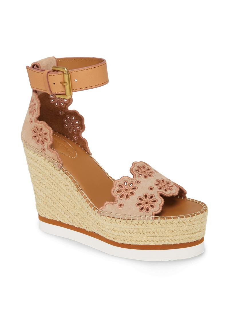 See by Chloé Glen Espadrille Platform Wedge Sandal (Women)