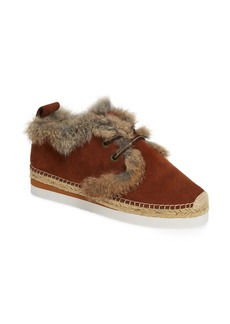 See by Chloé Glyn Genuine Shearling & Genuine Rabbit Fur Lace-Up Espadrille (Women)
