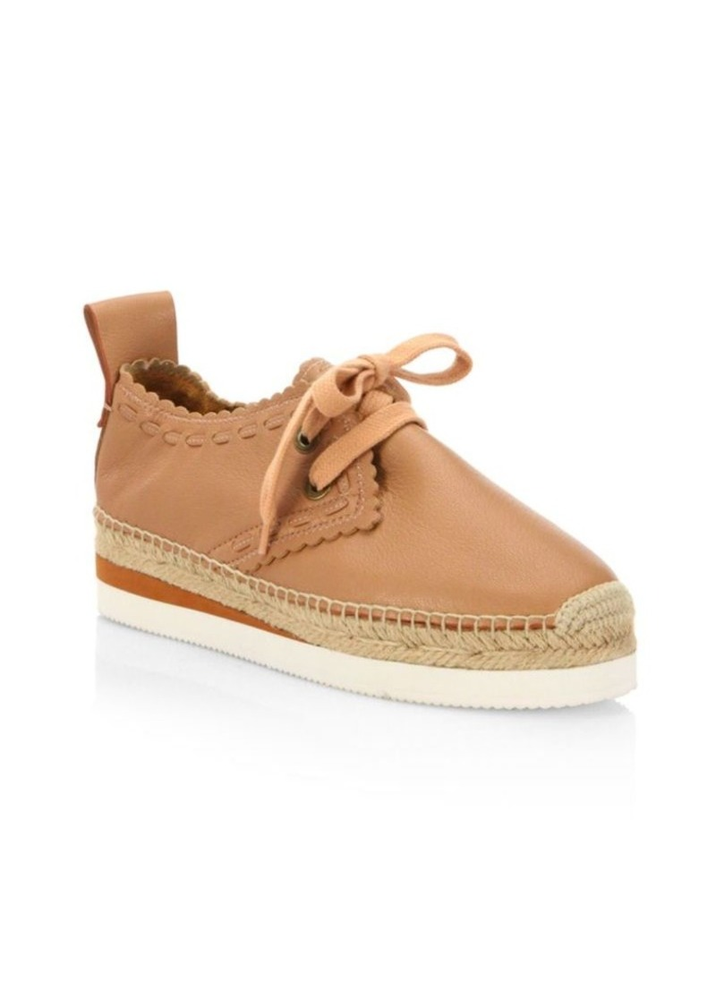 See by Chloé Glyn Leather Espadrille Sneakers