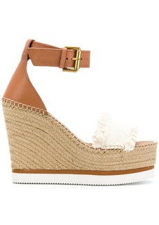 See By Chloé Glyn wedge espadrilles - Brown