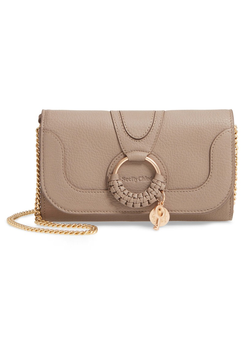 See by Chloé Hana Large Leather Wallet on a Chain