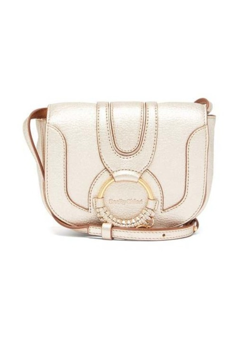 See By Chloé Hana mini metallic-leather cross-body bag