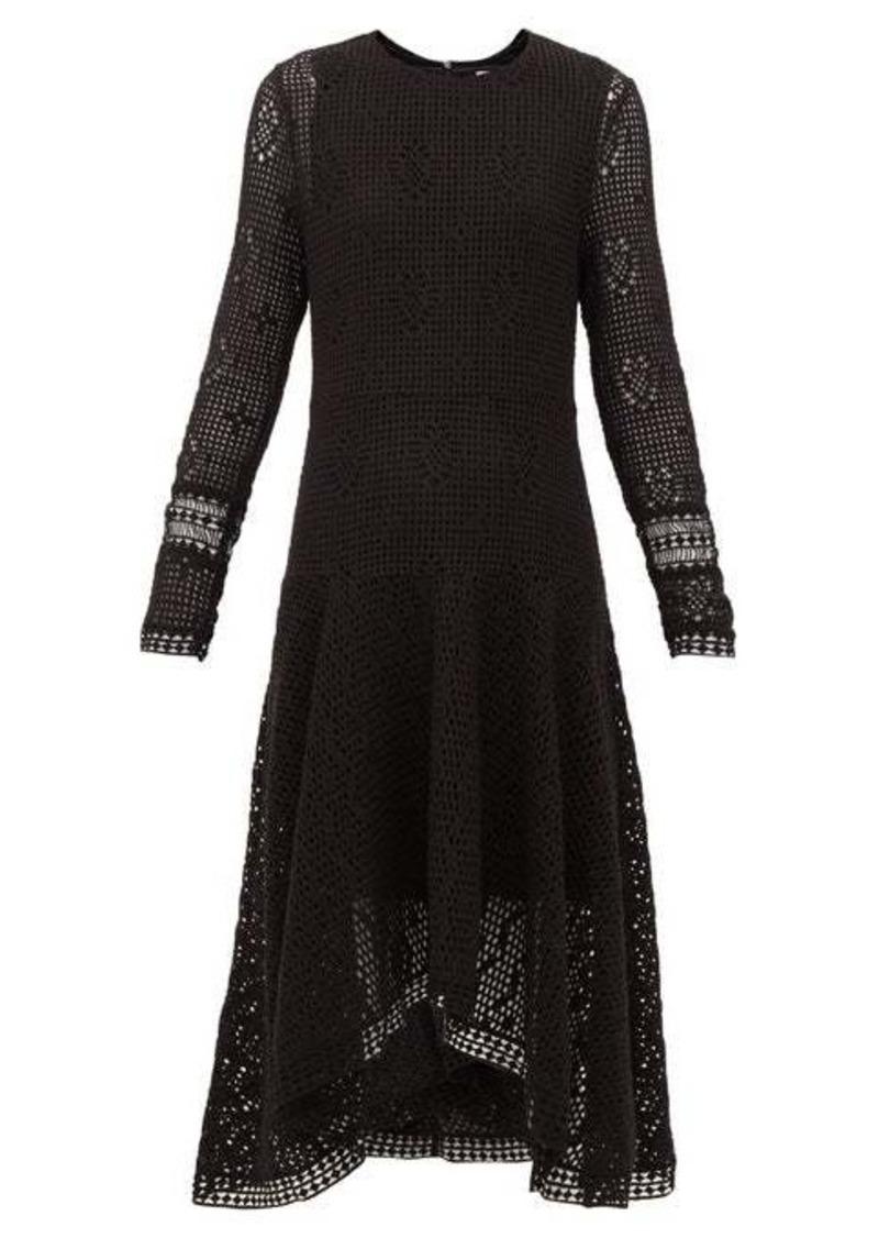 See By Chloé Handkerchief-hem crochet dress