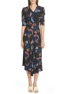 See by Chloé Handkerchief Hem Midi Dress