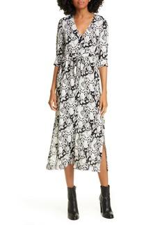 See by Chloé Heart Motif Midi Dress