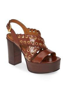 See by Chloé Helen Whipstitch Platform Slingback Sandal (Women)
