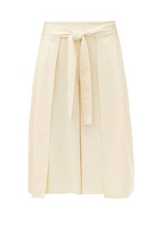 See By Chloé High-rise belted crepe culottes