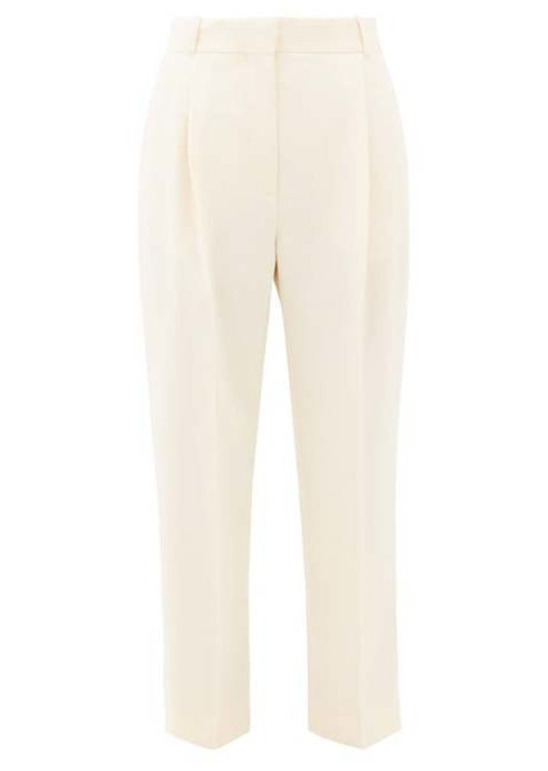 See By Chloé High-rise cropped crepe trousers