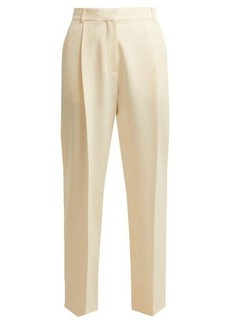 See By Chloé High-rise straight-leg ribbed-crepe trousers
