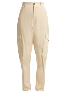 See By Chloé High-rise stretch-twill cargo trousers