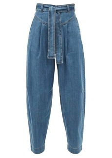 See By Chloé High-rise tapered-leg jeans