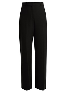 See By Chloé High-rise wide-leg stretch-twill trousers