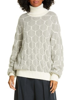 See by Chloé Honeycomb Turtleneck Sweater