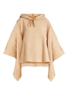 See By Chloé Hooded cotton-blend poncho