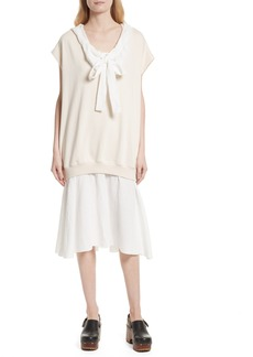 See by Chloé Hooded Sweatshirt Overlay Dress