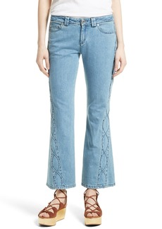 See by Chloé Iconic Ankle Flare Jeans (Stoned Indigo)