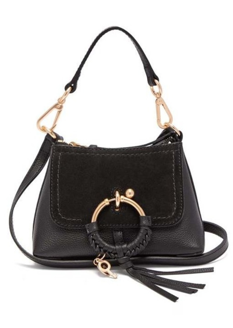 See By Chloé Joan mini leather and suede cross-body bag