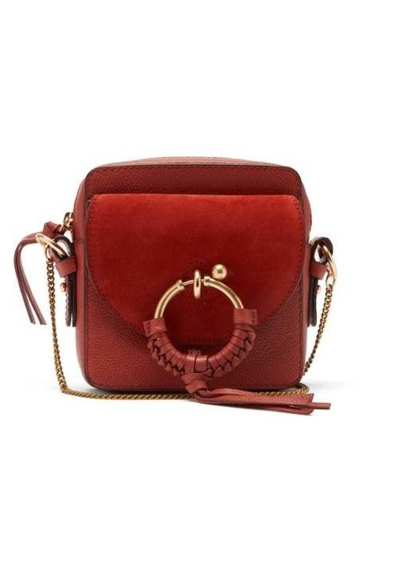 See By Chloé Joan mini leather and suede panel cross-body bag