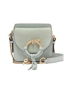 See By Chloé Joan square leather and suede cross-body bag