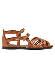 See By Chloé Katie double-buckle braided leather sandals