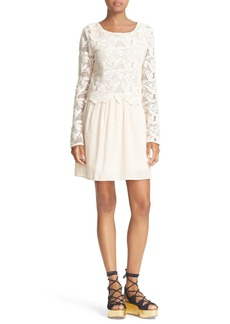 See by Chloé Lace Bodice Dress