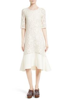 See by Chloé Lace Flounce Hem Dress