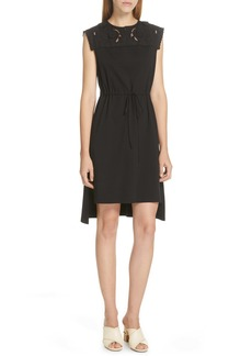 See by Chloé Lace Panel High/Low Dress