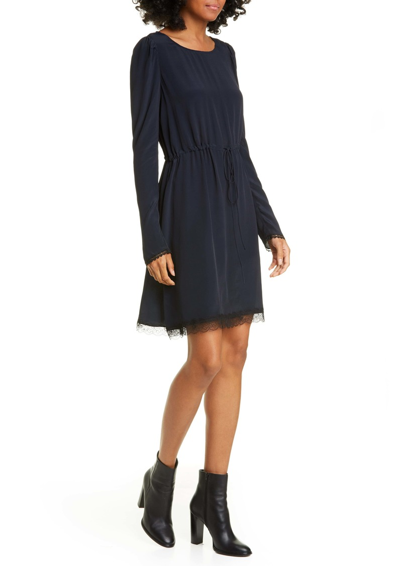 See by Chloé Lace Trim Long Sleeve Minidress