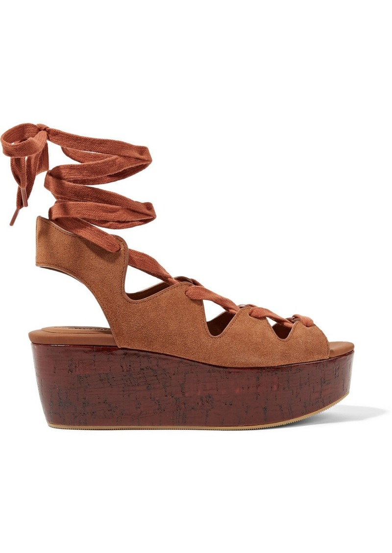 ee45761da034 See by Chloé See by Chloé Lace-up suede platform sandals