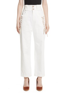 See by Chloé Lace-Up Wide Leg Trousers