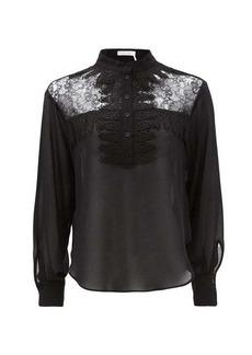 See By Chloé Lace-yoke georgette blouse