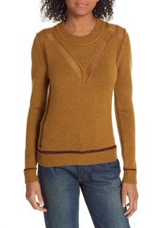 See by Chloé Ladder Stitch Wool Sweater