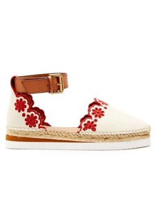 See By Chloé Laser-cut leather espadrilles