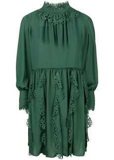 See By Chloé laser cut trim dress - Green