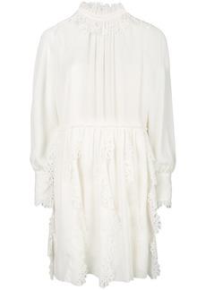 See By Chloé laser cut trim dress - White