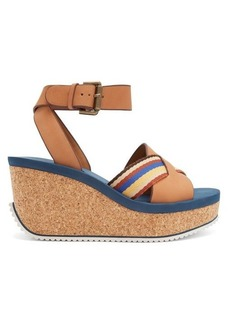 See By Chloé Leather cork-sole platform sandals