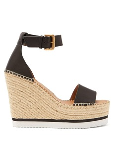 See By Chloé Leather espadrille wedge sandals