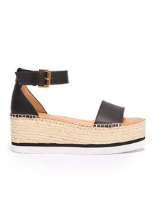 See By Chloé Leather flatform espadrilles