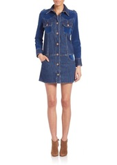 See by Chloé Long Sleeve Button Front Denim Dress