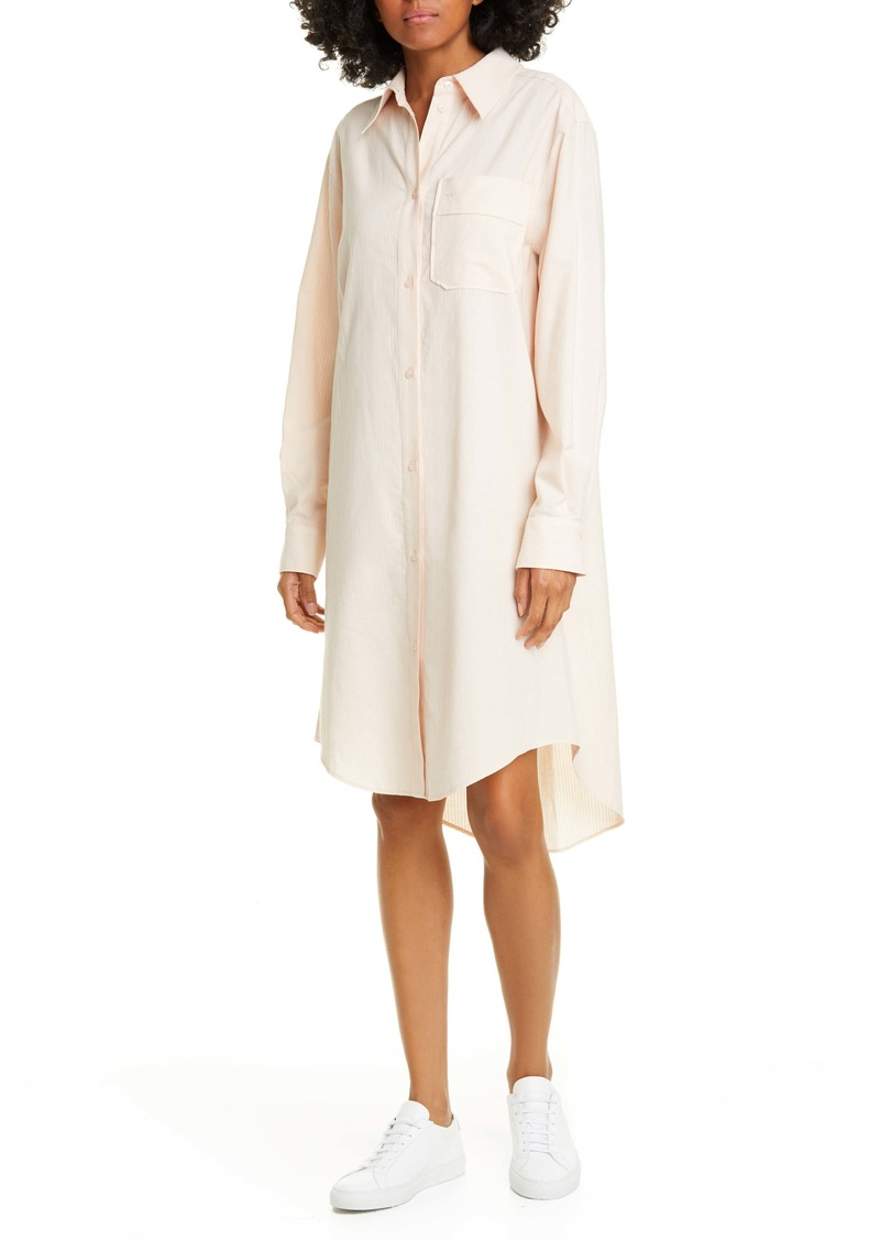 See by Chloé Long Sleeve Cotton Shirtdress