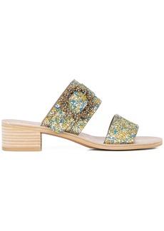 See By Chloé low heel glitter sandal - Metallic
