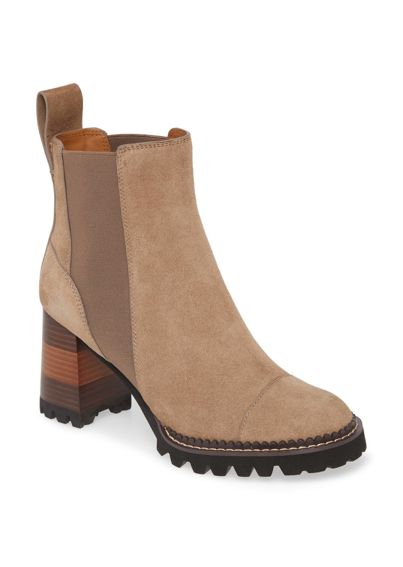 See by Chloé Mallory Block Heel Bootie (Women)