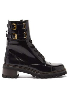 See By Chloé Mallory buckled-strap leather boots